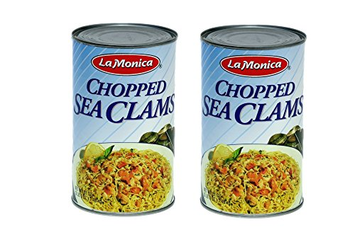 La Monica Chopped Sea Clams, 51-Ounce - 2 Large Cans .- Wild Caught - Gluten Free