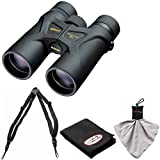 Nikon Prostaff 3S 10x42 Waterproof/Fogproof Binoculars with Case + Easy Carry Harness + Cleaning Cloth Kit
