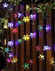50 LED Solar Garden Lights Outdoor Solar String Lights...