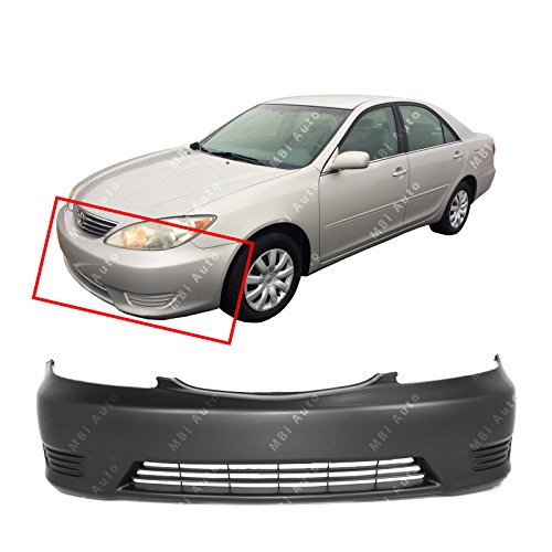 Bumper Camry Toyota Cover - MBI AUTO - Primered, Front Bumper Cover Fascia for 2005 2006 Toyota Camry w/Out Fog 05 06, TO1000284