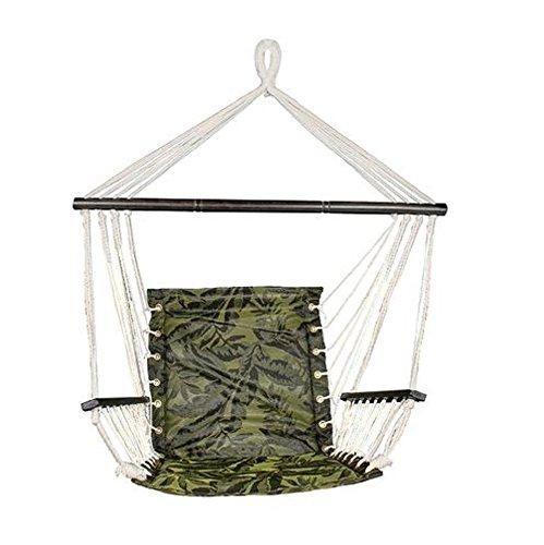 Metro Series Hammock Chair w/Armrests - Sling Fabric (Dark Wood) ()