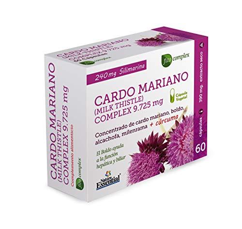 Cardo mariano complex 9 725 mg 60 capsulas con boldo, milenrama, alcachofa y curcuma