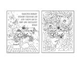 Positive Affirmations Coloring Book: An Adult