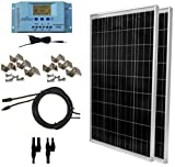 WindyNation 200 Watt Solar Panel Kit: 2pcs 100W Solar Panels + P30L LCD PWM Charge Controller + Solar Cable + MC4 Connectors + Mounting Brackets for Off-Grid RV Boat Review