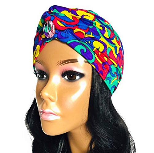 f0004dd8b Amazon.com  OKIYAH Hair Wrap. Satin Lined Hair Wrapping Cap ...