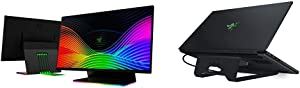 "Razer Raptor 27"" Gaming Monitor & Laptop Stand Chroma: Customizable Chroma RGB Lighting - Ergonomic Design - Anodized Aluminum Construction - 3X Port USB 3.0 Hub - Matte Black"