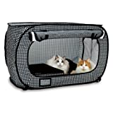 Necoichi Portable Stress Free Cat Cage and Litter Box Set
