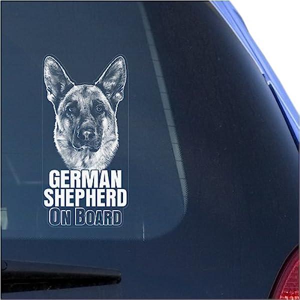 White GERMAN SHEPHERD DOG Animal Car Stickers Fashion Classic Personality-DecaJB