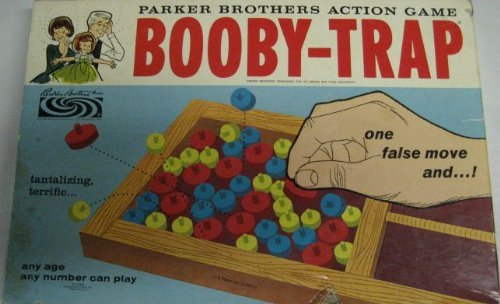 Booby-Trap Parker Brothers Action Game - Original 1965 - Trap Booby