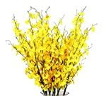 TYEERDEC Artificial Flowers 12 Pieces Artificial Dancing Lady Orchid Oncidium Silk Orchid for Wedding Home Office Decoration Festive Furnishing