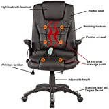 Mecor Office Massage Chair Executive Heated Vibrating Computer Chair (Black)