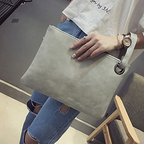 Leather Bag Clutch Large Grey Evening Envelope PU Bags Shoulder Handbag Bag Meliya Womens Wristlet Clutch Fashion Purse Silver qTXtz0U