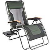 PORTAL Oversized Mesh Back Zero Gravity Recliner Chairs, XL Padded Seat Adjustable Patio Lounge Chair with...