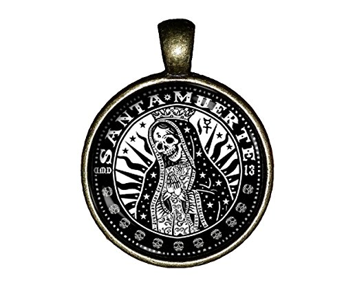 Santa Muerte necklace jewelry Sugar skulls DEATH pendant charm gifts