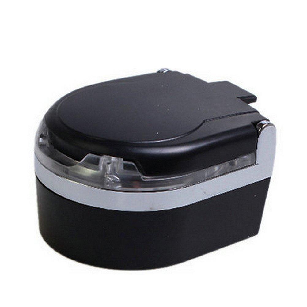 1Piece Schwarzes VORCOOL LED-Licht-Aschenbecher-Auto-Zigaretten-Asche-rauchfreier Speicherstand-Getr/änkehalter mit Deckel