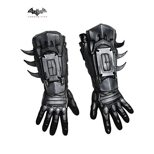 [Rubie's Costume Men's Arkham City Deluxe Batman Gloves, Black, One Size] (Male Wench Costume)