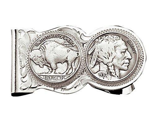 Montana Silversmith Buffalo Indian Nickel Scalloped Money Clip - (Buffalo Nickel Money Clip)