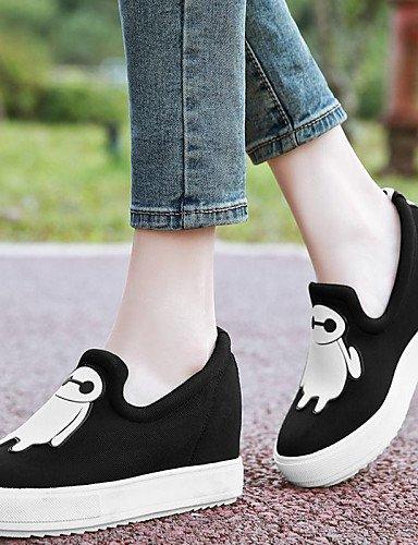 ZQ Zapatos de mujer - Plataforma - Creepers / Comfort - Mocasines - Oficina y Trabajo / Vestido / Casual / Deporte - Tela - Negro / Gris , gray-us8 / eu39 / uk6 / cn39 , gray-us8 / eu39 / uk6 / cn39 gray-us7.5 / eu38 / uk5.5 / cn38