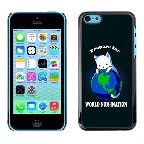 TaiTech / Case Cover Housse Coque étui - World Planet Earth Cat Ruler White King Anime - Apple iPhone 5C