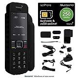 Kit de teléfono satelital BlueCosmo Inmarsat IsatPhone 2 y tarjeta SIM prepaga para 250 unidades (192 minutos, 180 días) - Cobertura global - voz, SMS, rastreo GPS, emergencia SOS