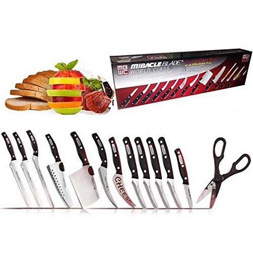 Blade Wide Cooks Knife - Miracle Blade World Class 13 Piece Knife Set