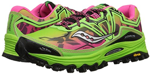 6 Rosa 0 Women's Shoes Xodus Saucony Trail Verde Running pw845pqxC
