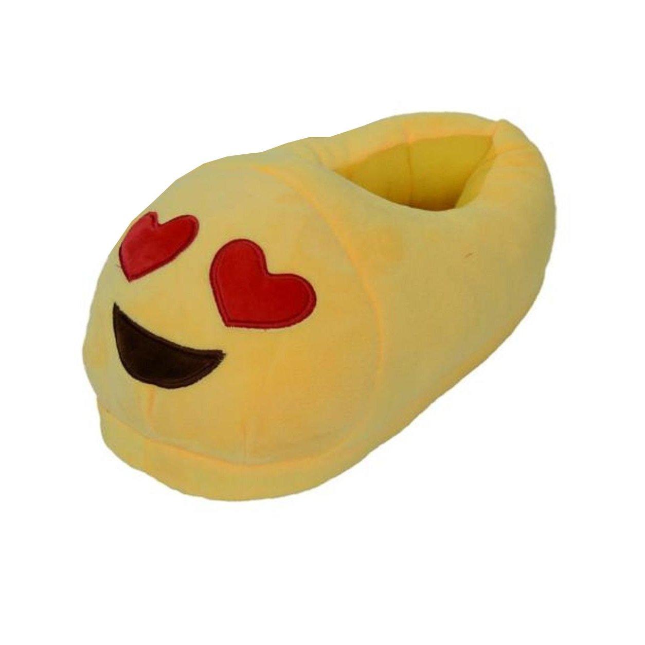 Malloom Mujeres y Hombres Universal Zapatilla Felpa QQ Expresión Emoji Casa Zapatos (C) Q4UMn4XaJ