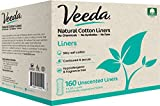 Veeda Natural Cotton Liners, Hypoallergenic, Folded 160 Count