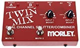 Morley Twin Mix Dual Channel Mixer/Combiner Pedal, Red