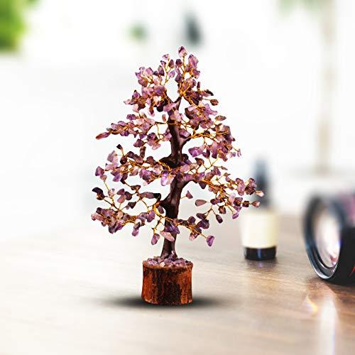 Crocon Amethyst Gemstone Money Tree Feng Shui Bonsai for Reiki Healing Chakra Stone Balancing Energy Generator Spiritual…