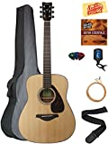 Yamaha FG800 Solid Top Folk Acoustic Guitar - Natural Bundle with Gig Bag,...