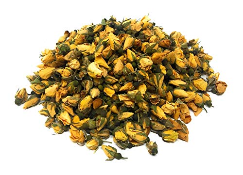 Yellow Rose Buds - Organic Dried brilliant Yellow Rose Petals Buds (Rosa Damascena) - Pure delicate yellow rose buds! ()