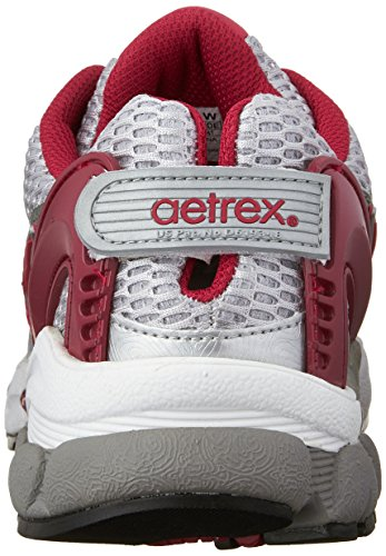 Aetrex Mujeres Edge Fashion Sneaker Plata / Frambuesa