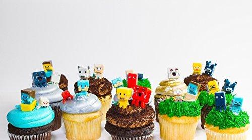 MINECRAFT Cupcake toppers 24 random figures by Minecraf