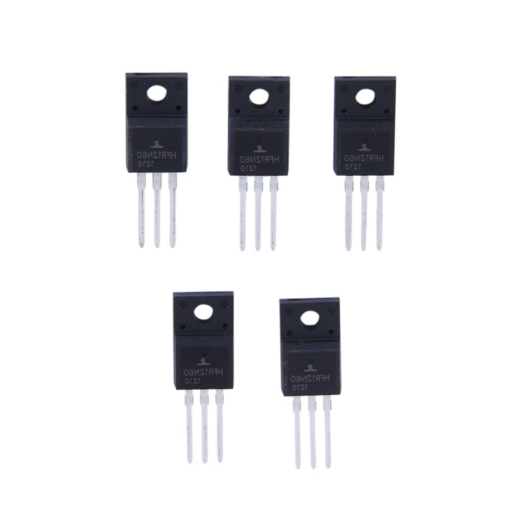 5pcs N-Channel Power MOSFET 12N60 12A 600V Package TO-220
