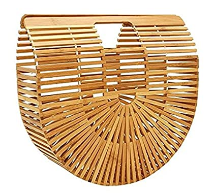 Amazon.com: etbotu Mujer Bolso, Bolsa de tela, de bambú ...
