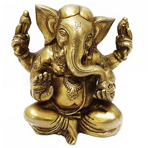 Rare White Jade Dragon (Brass Metal Rare Golden Lord Ganesha Figurine Engraved Decorative Home D?cor Art)