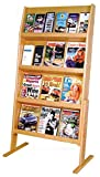 Wooden Mallet Slope 24 Pocket Standing Literature Display 4Hx6W, Light Oak