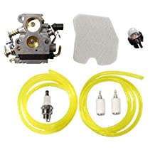 HURI Carburetor Air Filter Fuel Line Tune Up Kit for 574719402 545072601 545061801 Husqvarna 235 235E 236 236E 240 240E Chainsaw Jonsered CS2234 CS2238 CS2234S CS2238S