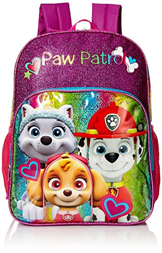 Puppy Love Backpack (Nickelodeon Girls' Paw Patrol Puppy Love Multi Compartment 16