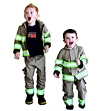 Personalized Firefighter Toddler Outfit with Name on Back of Shirt and Coat