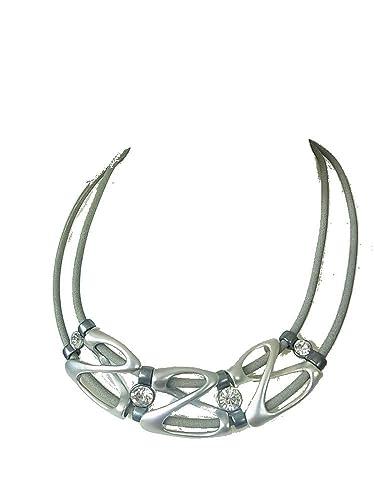 Uhren & Schmuck Modeschmuck Kette Halskette Kurze Kette Halsband Lederbandkette Mit Grossem Rundem Anhänger