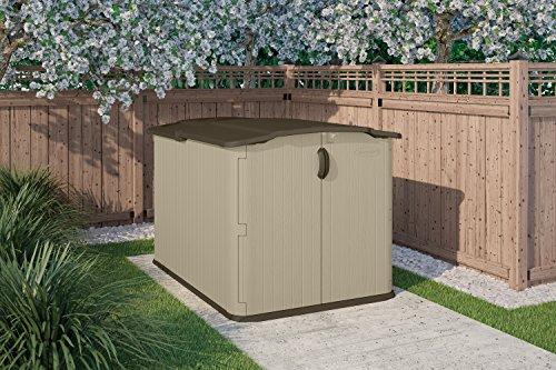 Suncast bms4900d glidetop slide lid shed lawn patio in for Garden shed uae