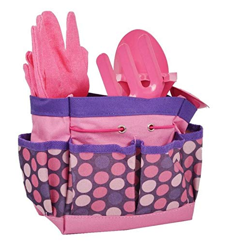 Perfect for Garden Kids Tote Bag BABOOM BABOOM Childrens Garden Tools Set Includes Child Rake Watering Can Shovel and Trowel