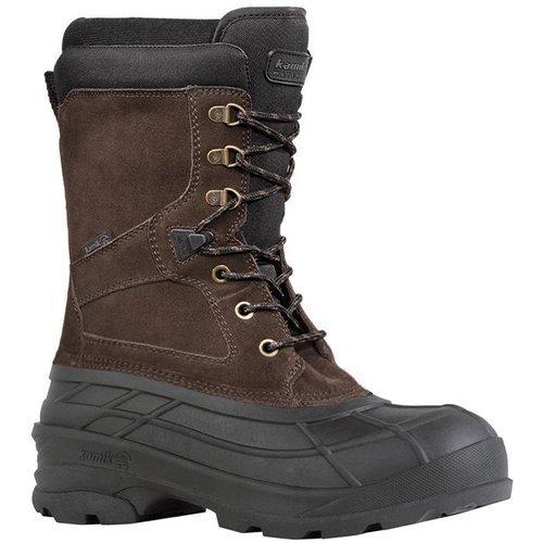 Kamik Men's Nationplus Snow Boot,Dark Brown,10 M US