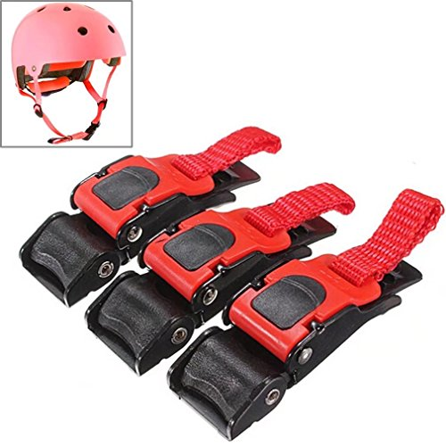Speed Strap - KingFurt 3PCS Motorcycle Helmet Speed Clip Chin Strap Buckle Quick Release Disconnect Pull Buckle