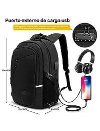 Mochila antirrobo, Mochila Daypack de 30L con puerto de carga USB Interfaz para auriculares y bloqueo con contraseña, mochila impermeable a diario, mochila para portátil de 12-16 pulgadas, estudiantes