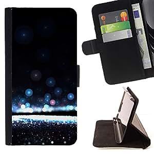 Awe Inspiring Agua Negro- Modelo colorido cuero de la carpeta del tirón del caso cubierta piel Holster Funda protecció Para Sony Xperia Z3 D6603