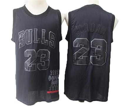 TTHU Camisetas De Baloncesto Negras para Hombres - Bulls 23 ...