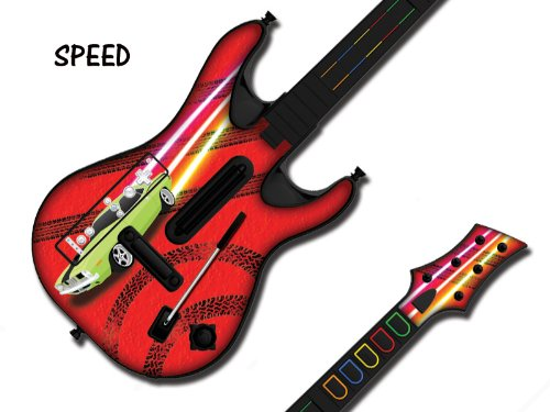 247Skins - Skin para guitarra de Guitar Hero 4 World Tour para Wii, diseño de coche de carreras: Amazon.es: Videojuegos